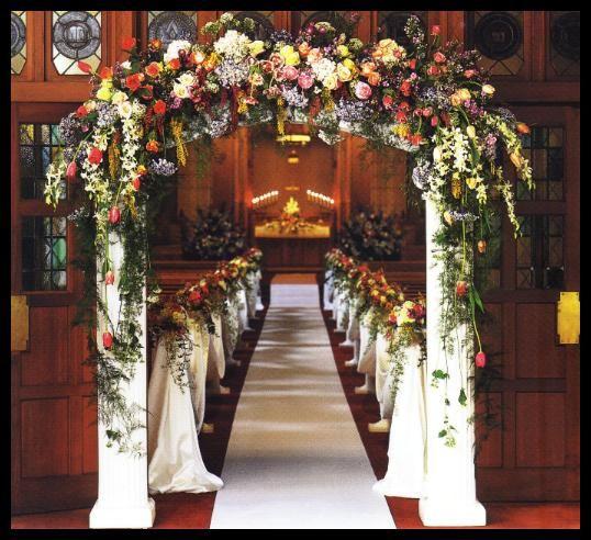 Christmas Wedding Church Decorations