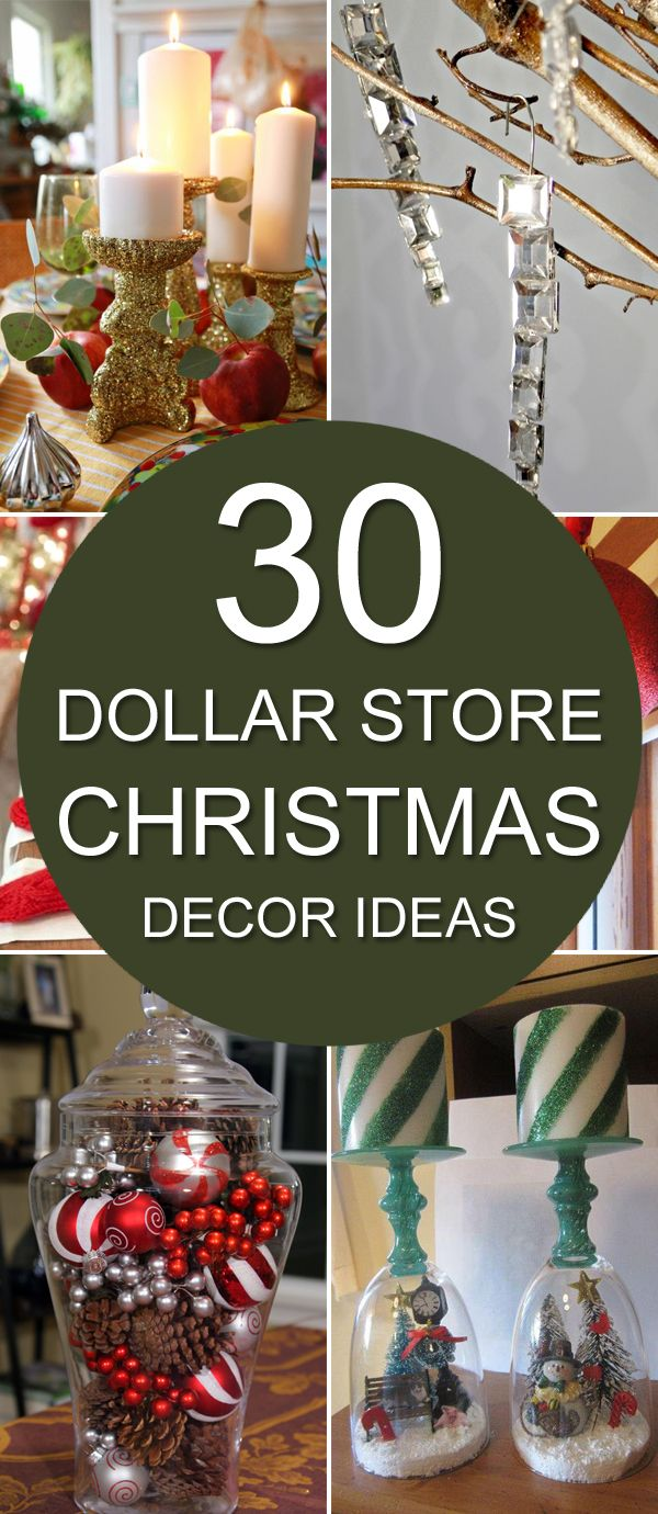 30 Dollar Store Christmas Decor Ideas Dollar stores