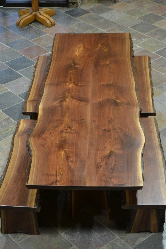 Hand Crafted Rough Edge Tables Custom Made Live Edge
