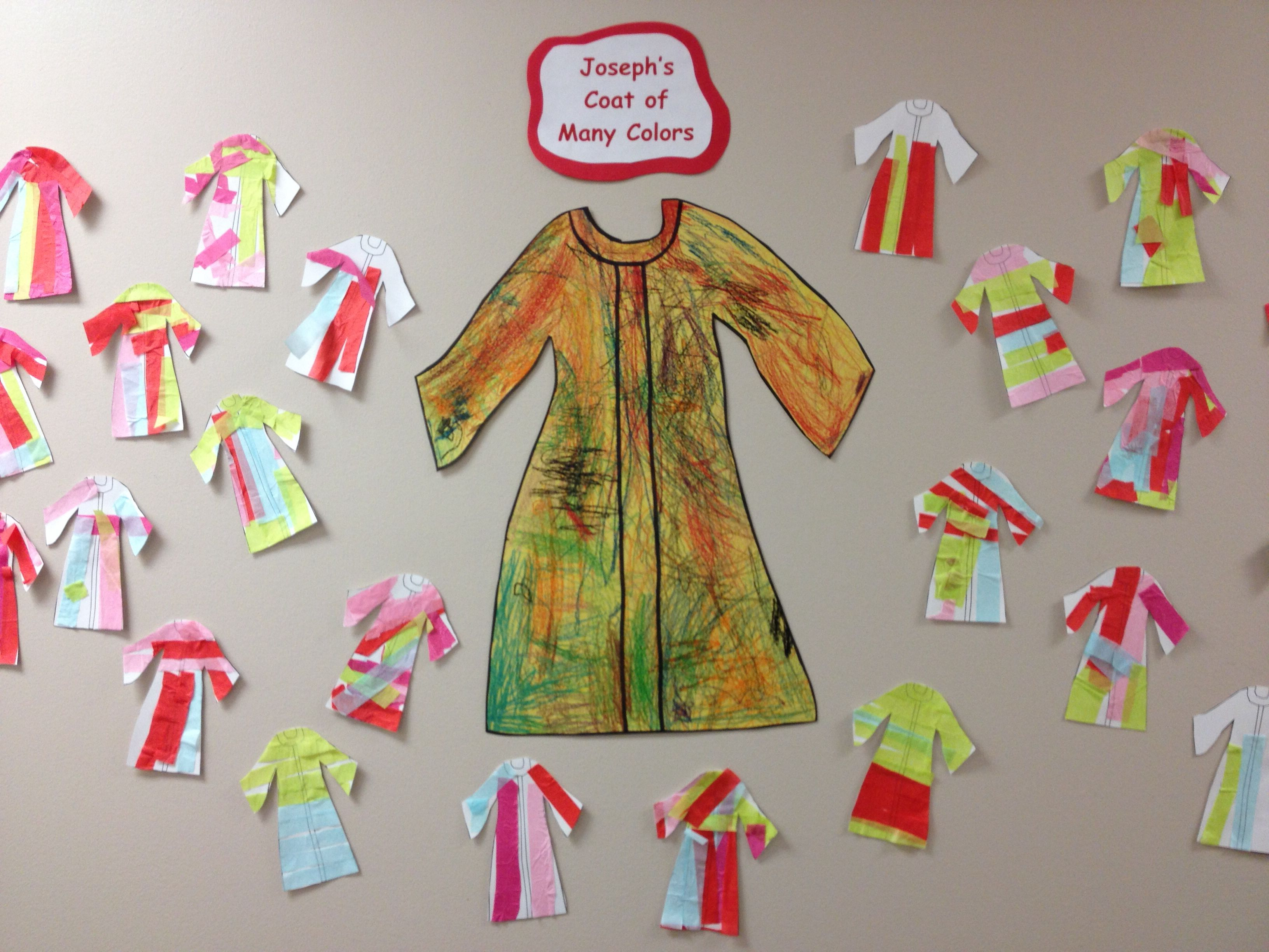 Joseph S Coat Of Many Colors Preschool Craft