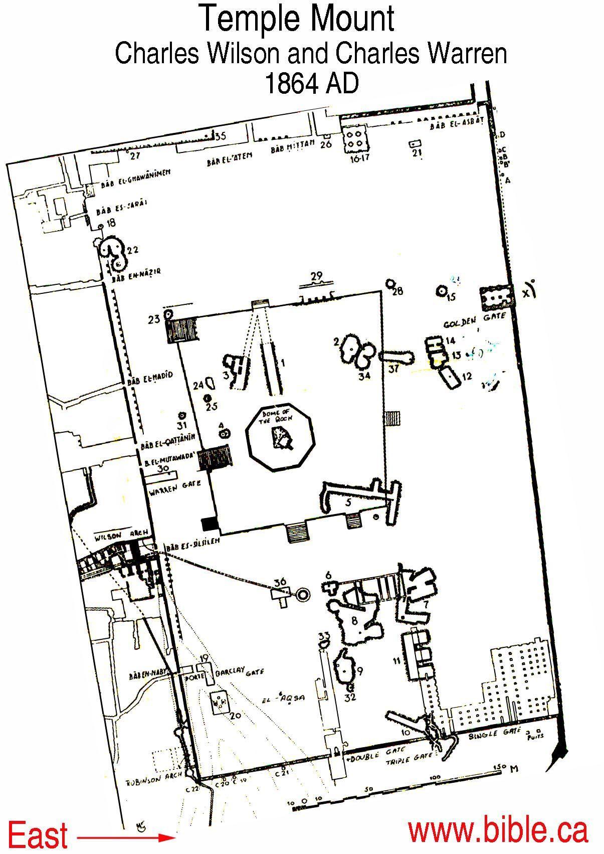 Temple Mount The Famous Wilson Warren Survey Of King
