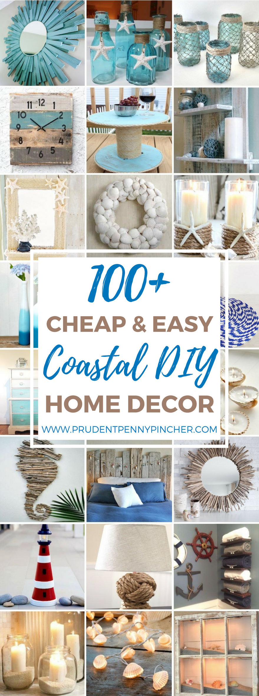 100 Cheap and Easy Coastal DIY Home Decor Ideas Coastal
