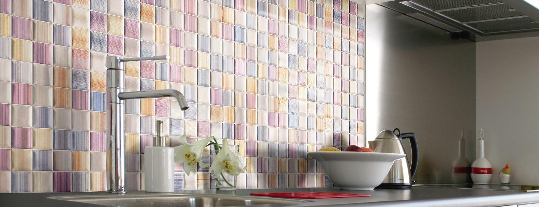 Pastel coloured mosaic tiles Kitchen Tiles Tile Depot