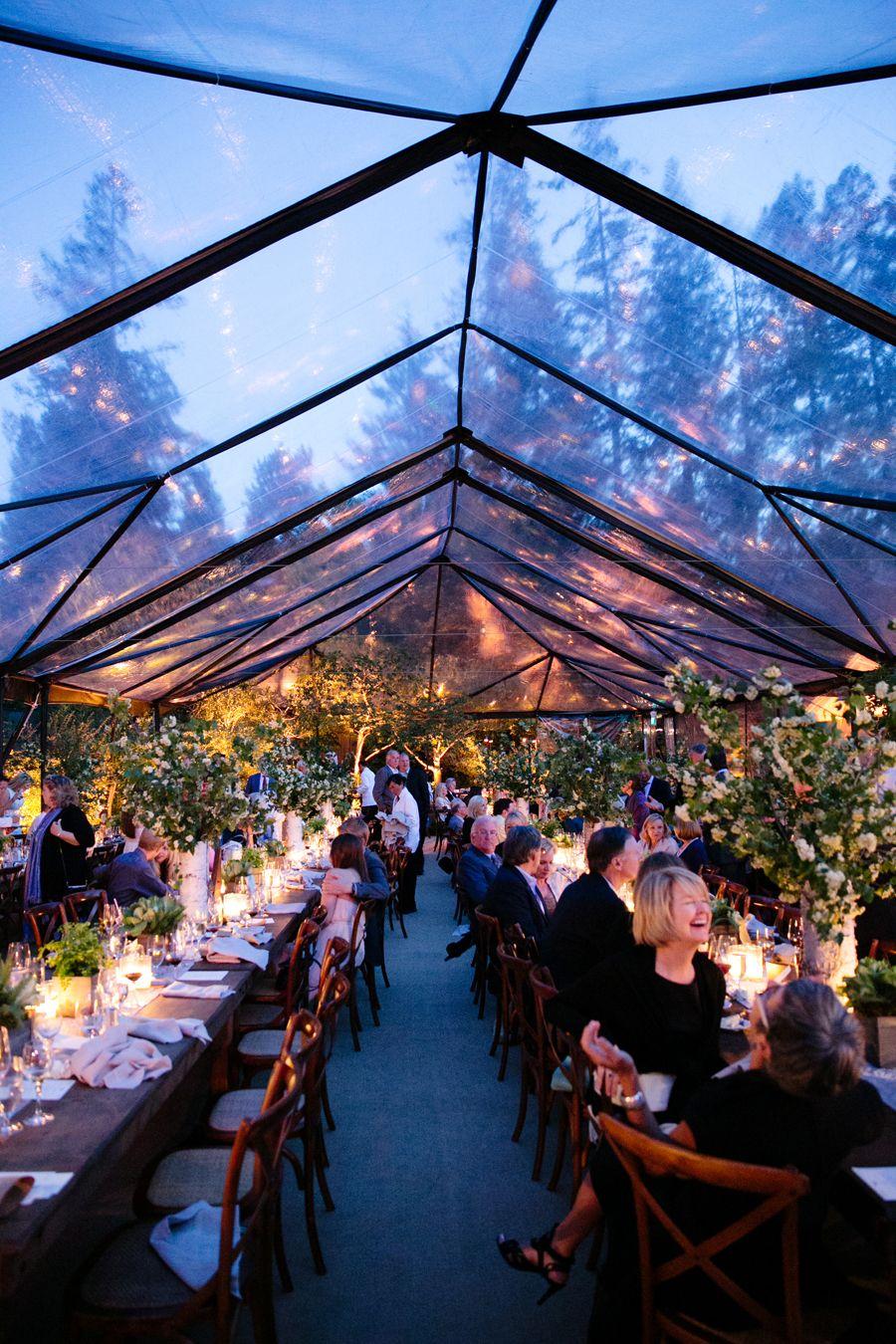 Elegant Al Fresco Wedding at Home Receptions, Wedding