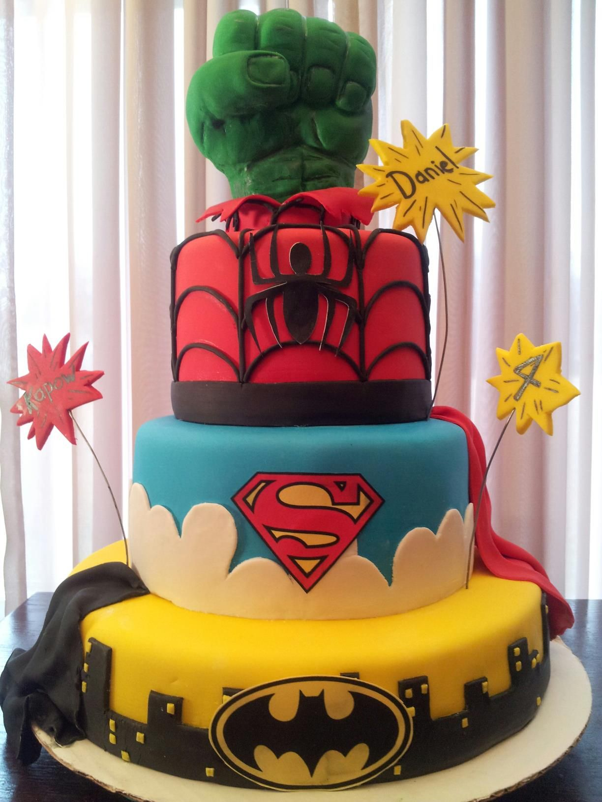 Super Hero Cake A Birthday Boys Cake (boys cake