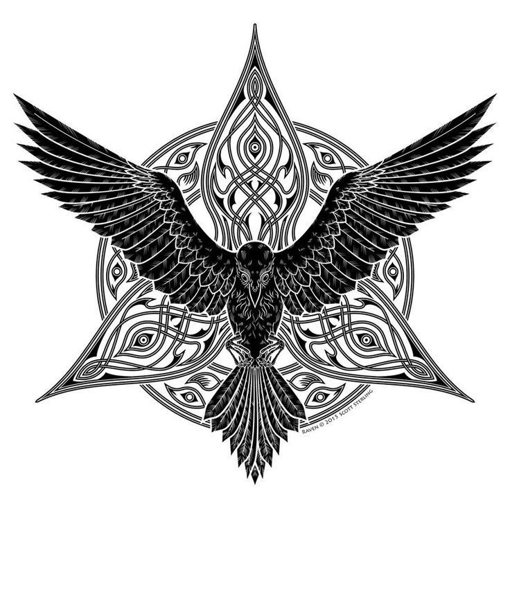 Image result for celtic wolf raven women tattoos Amazing