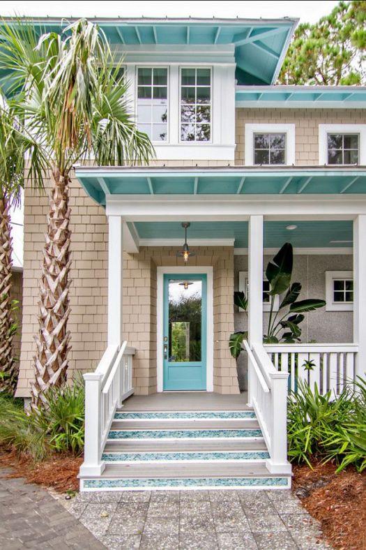Would Be A Cute Beach House Color Scheme Home Exterior Paint