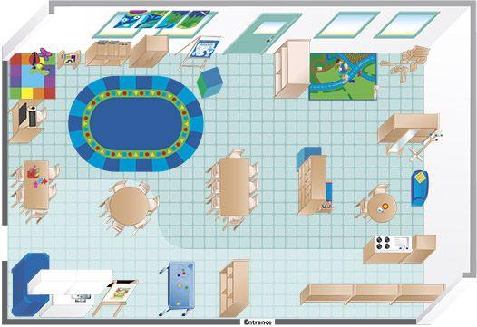 Floor Plan An Environments Pre-K