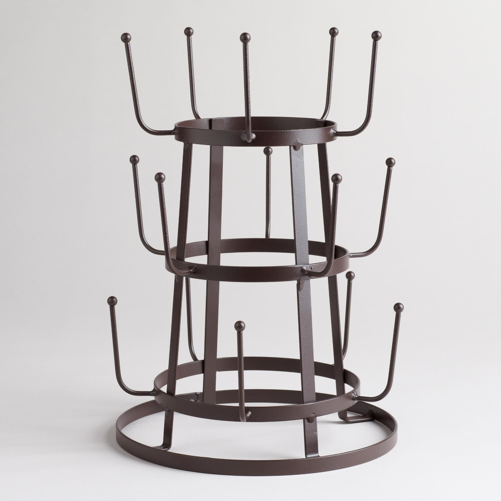 Wire 3Tier Glass Drying Rack Coffee, Glass and Kitchens