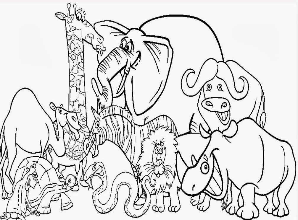 Cute Zoo Animal Coloring Pages Kids Coloring Pages