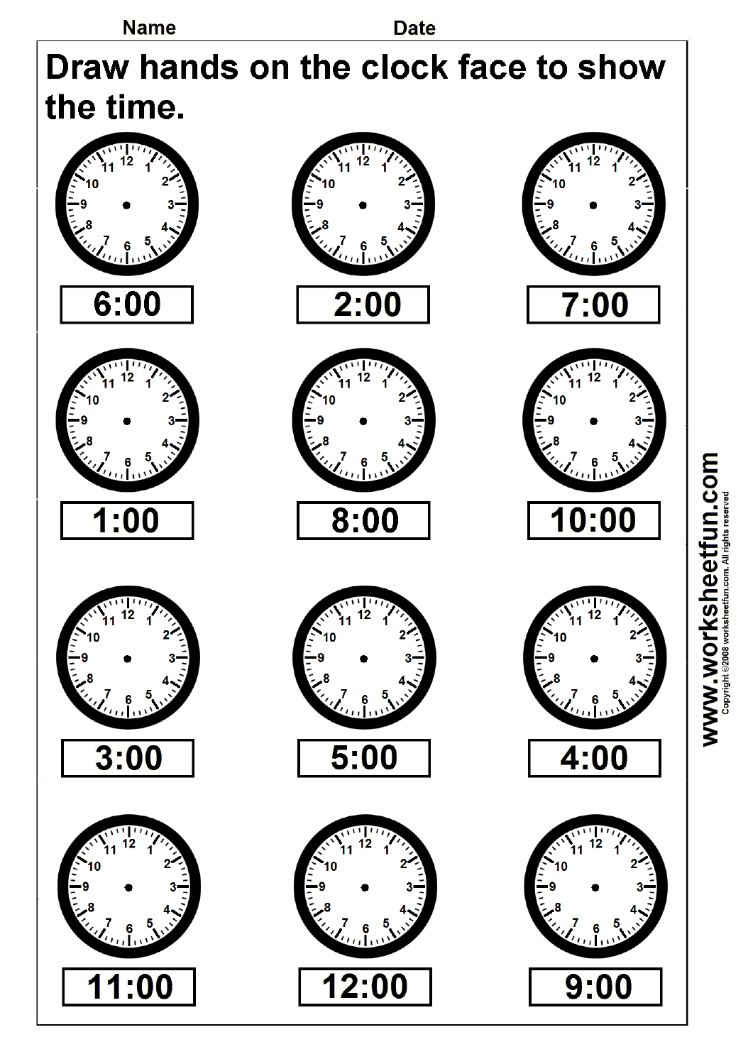 worksheet Printable Clock Worksheets time worksheets for baseball team free printable math clock template beepmunk 1000 images about telling on pinterest time