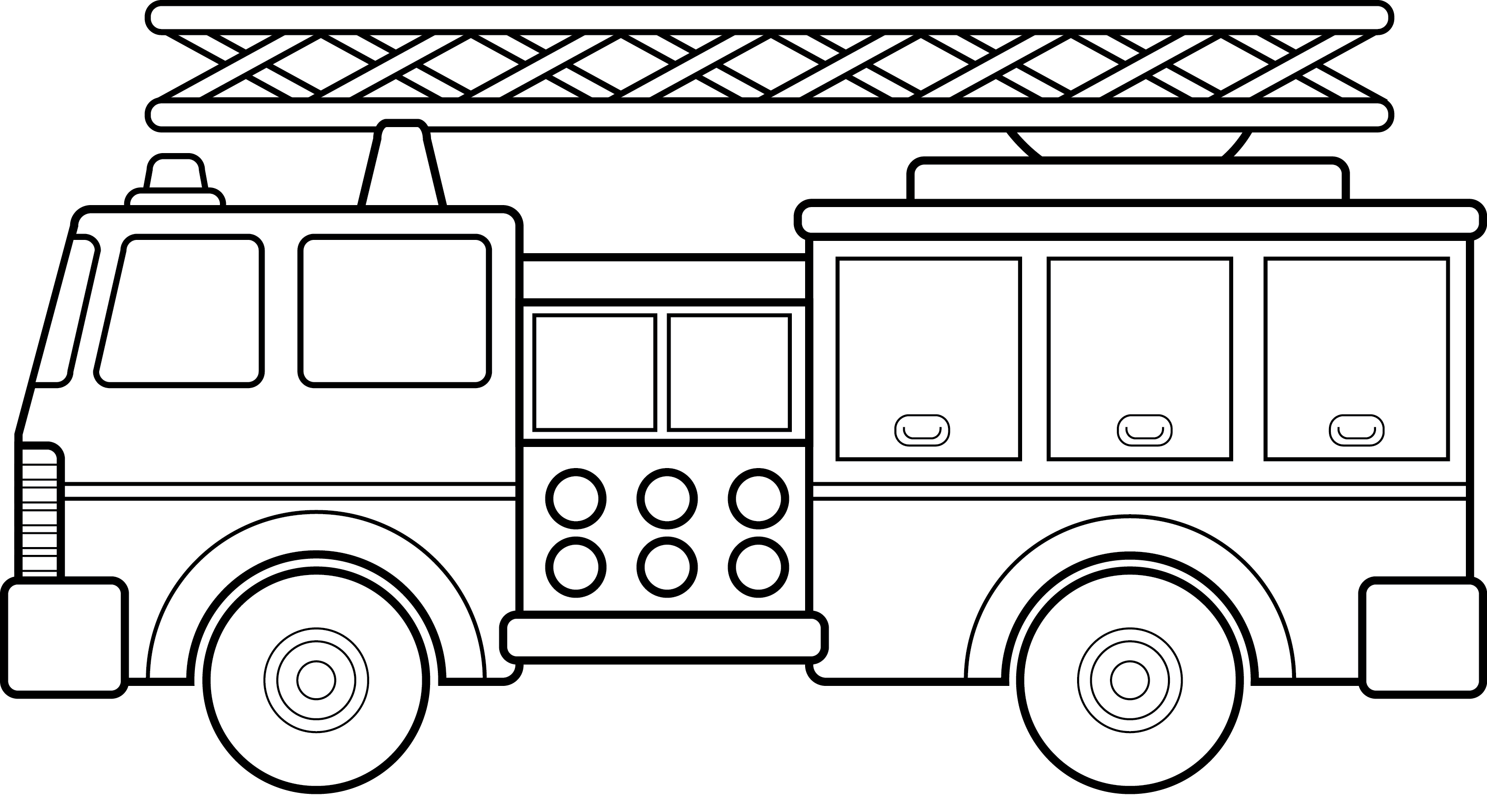 fire trucks coloring for kids and trucks on pinterest