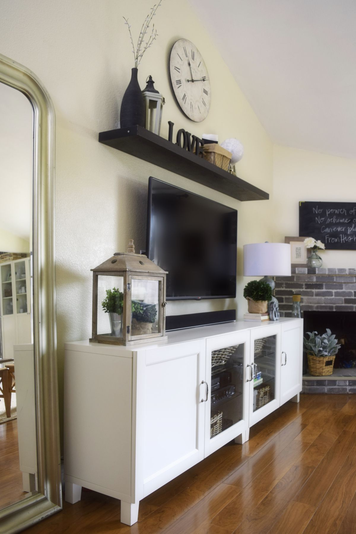 """Our somewhat Ikea """"hacked"""" entertainment center and an"""