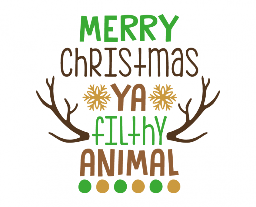 Free SVG cut file Merry Christmas ya flithy animal
