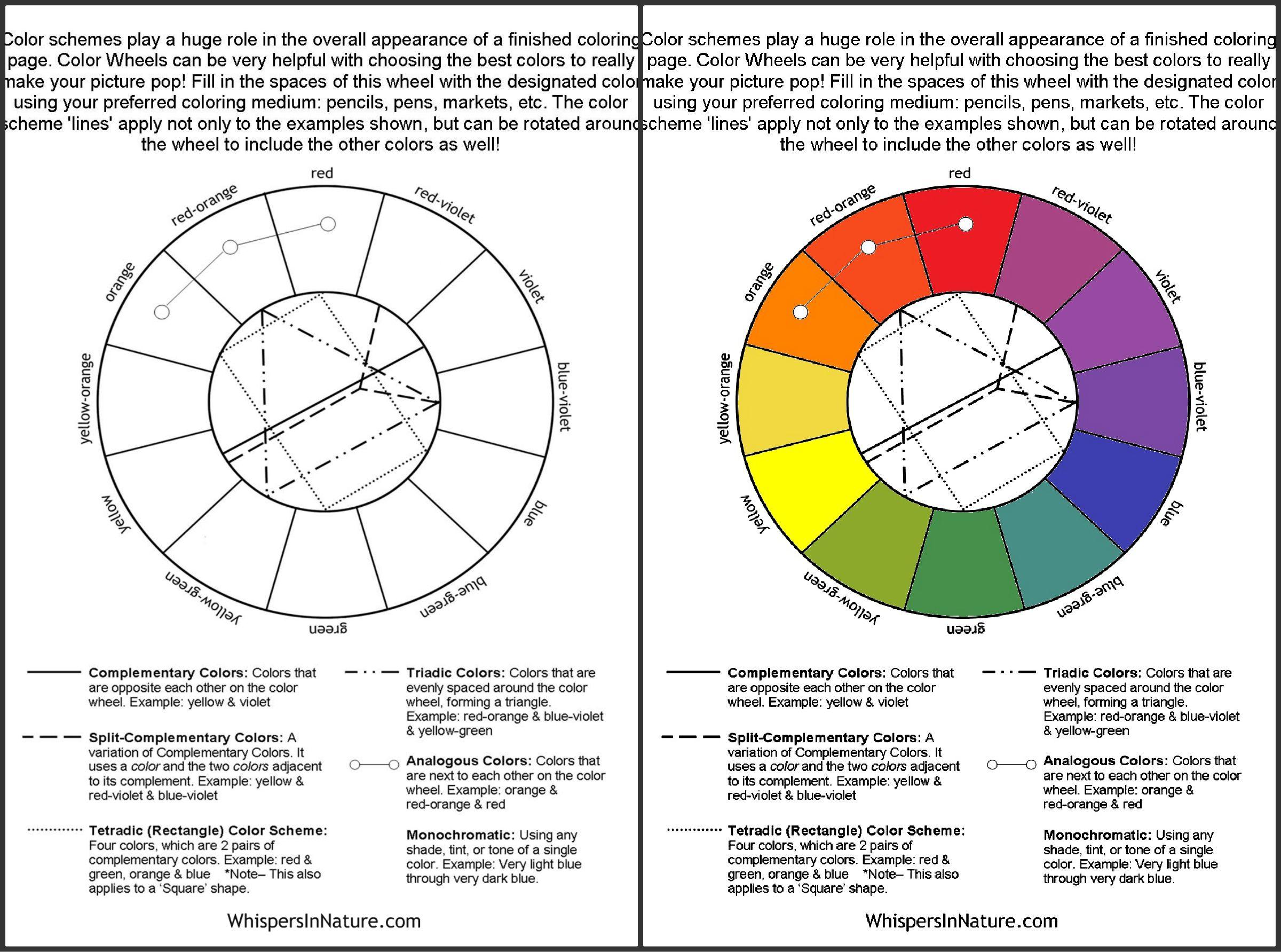 Free Coloring Page Color Wheel