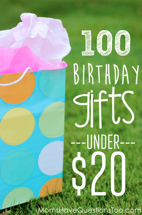 Over 100 unique and inexpensive birthday gift ideas for