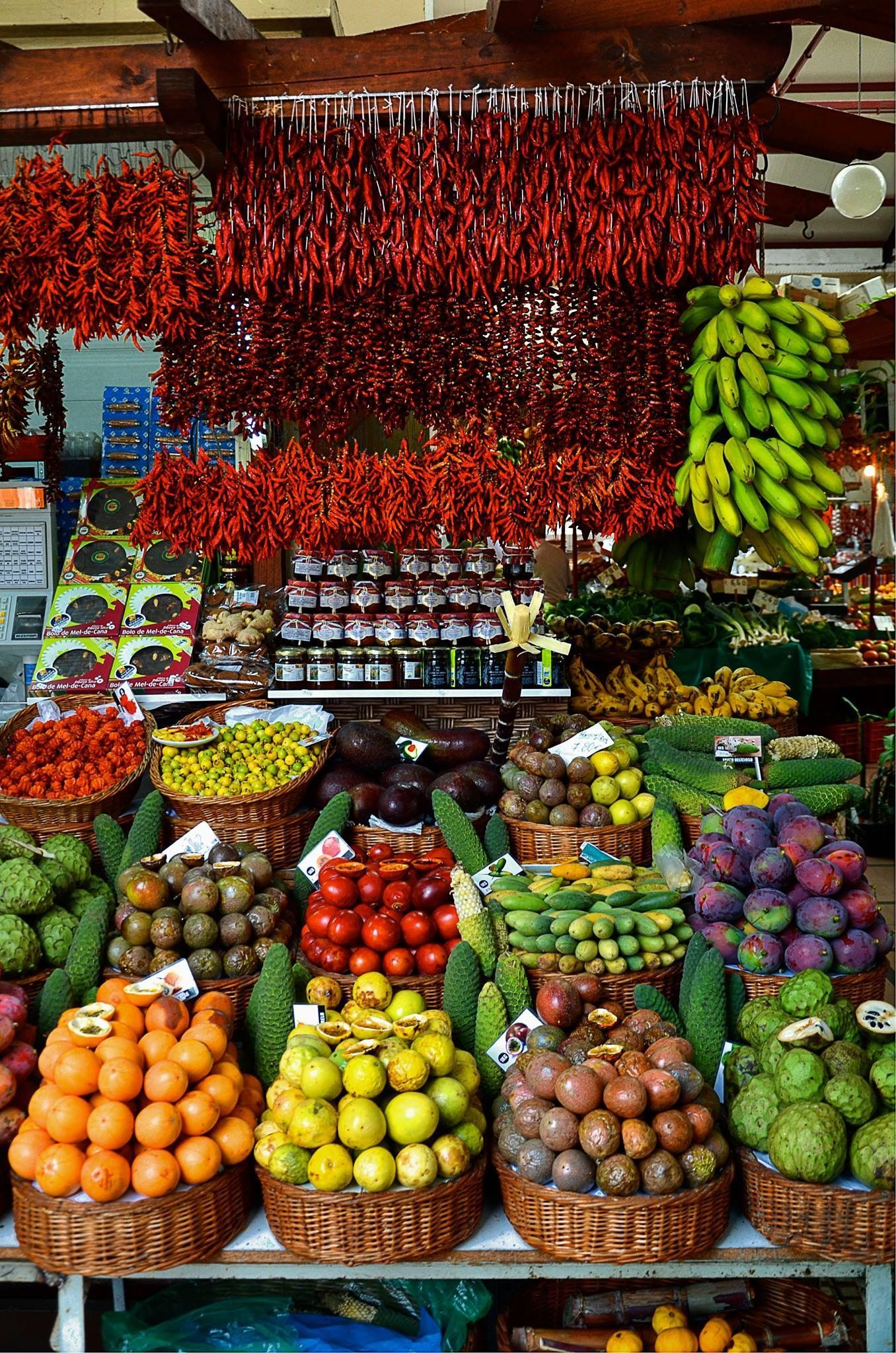 Market in Madeira island, Portugal i was here in Funchal