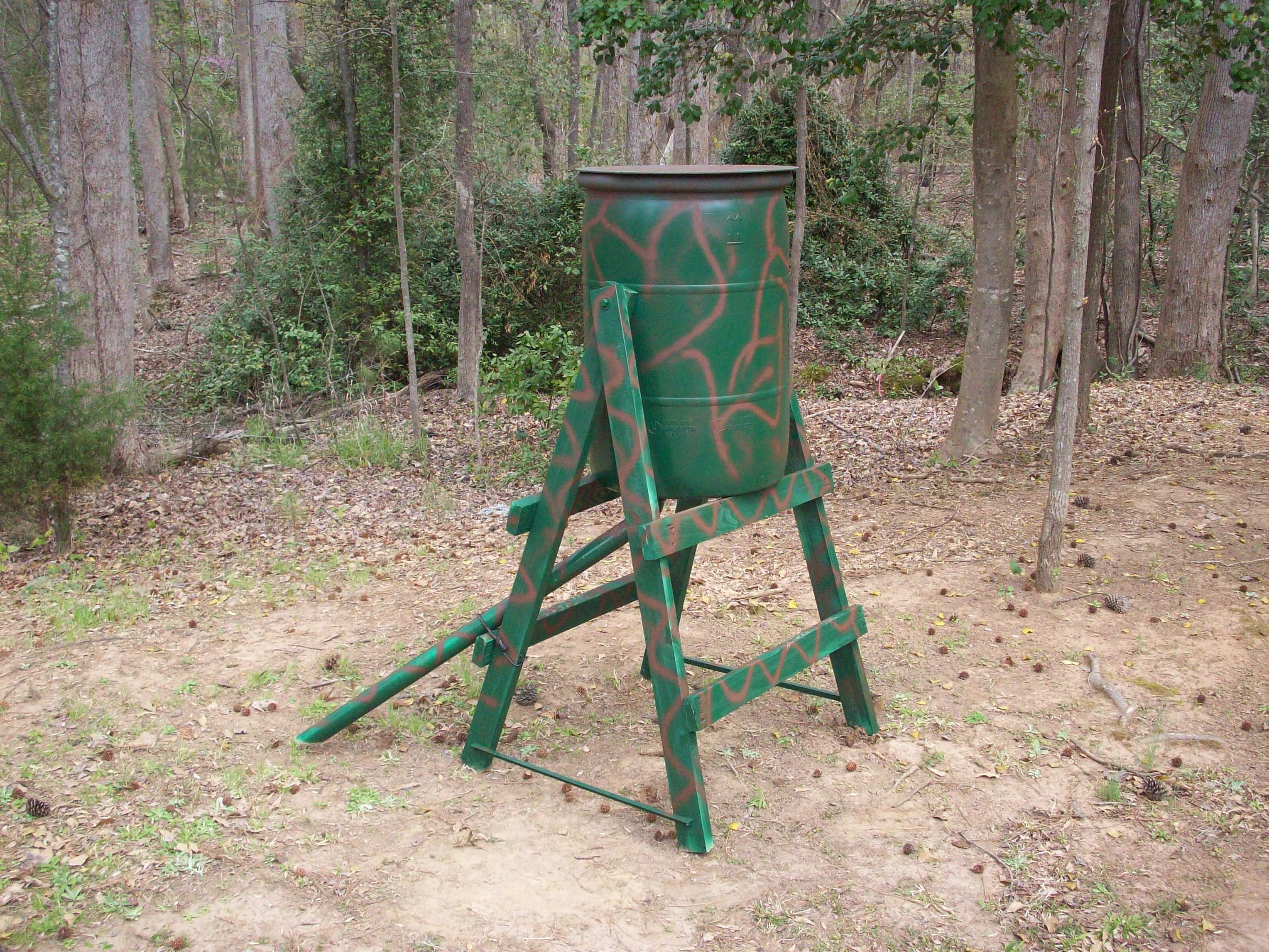 Hunting Tip Inexpensive and Effective Deer Feeder Big