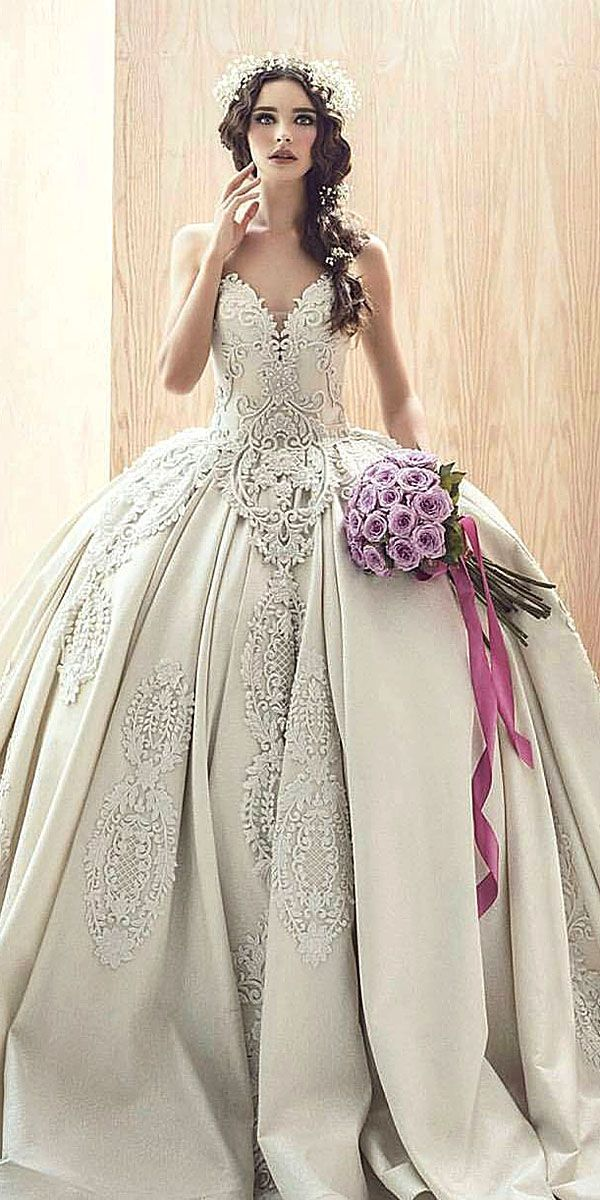 This large ball gown style wedding dress is beautiful It