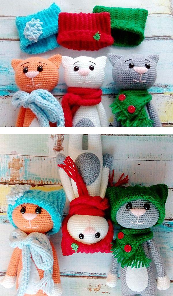 Funny amigurumi cats in hats FREE PATTERN Free