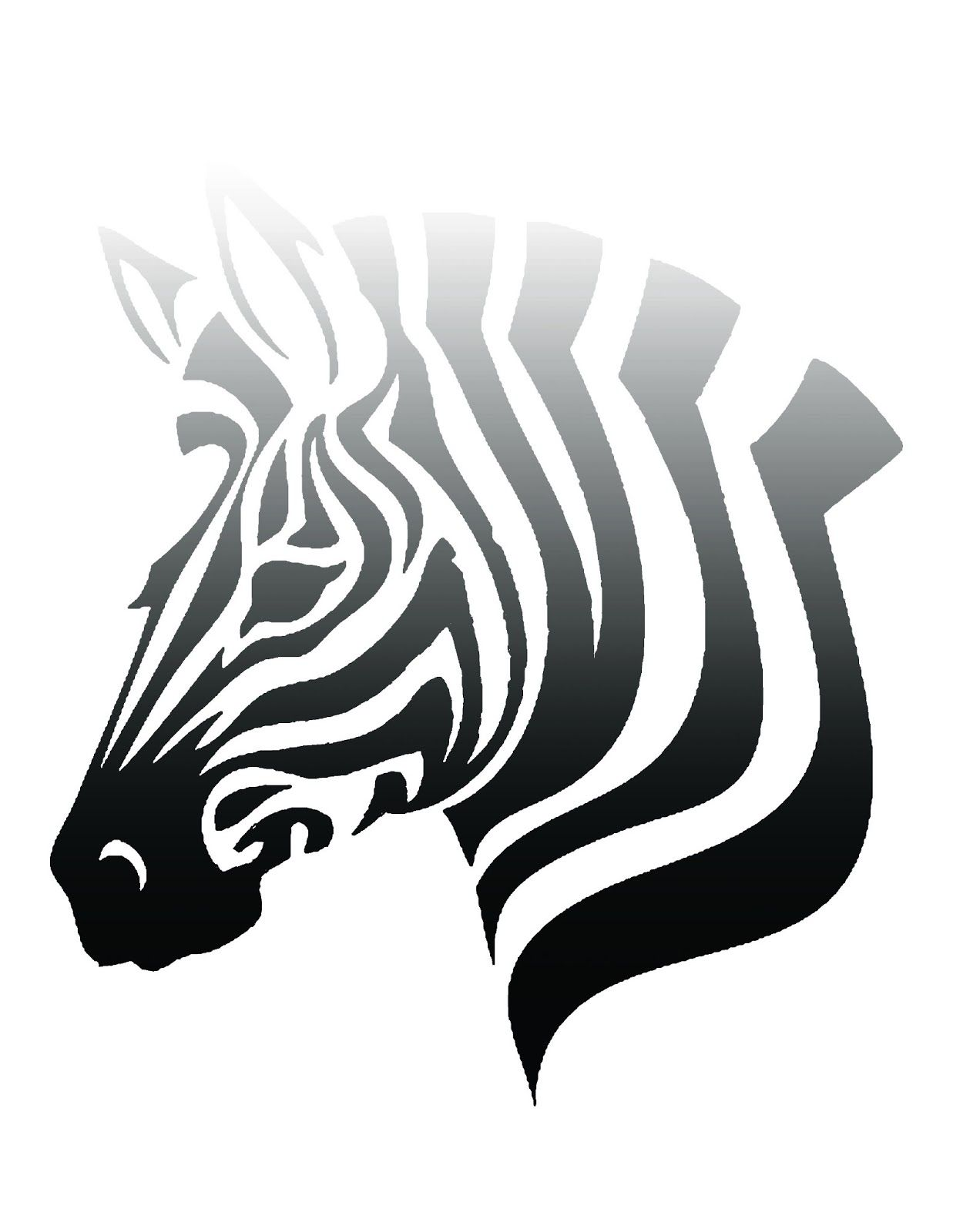 Free Printable Ombre Zebra Poster Click For Link To Blog