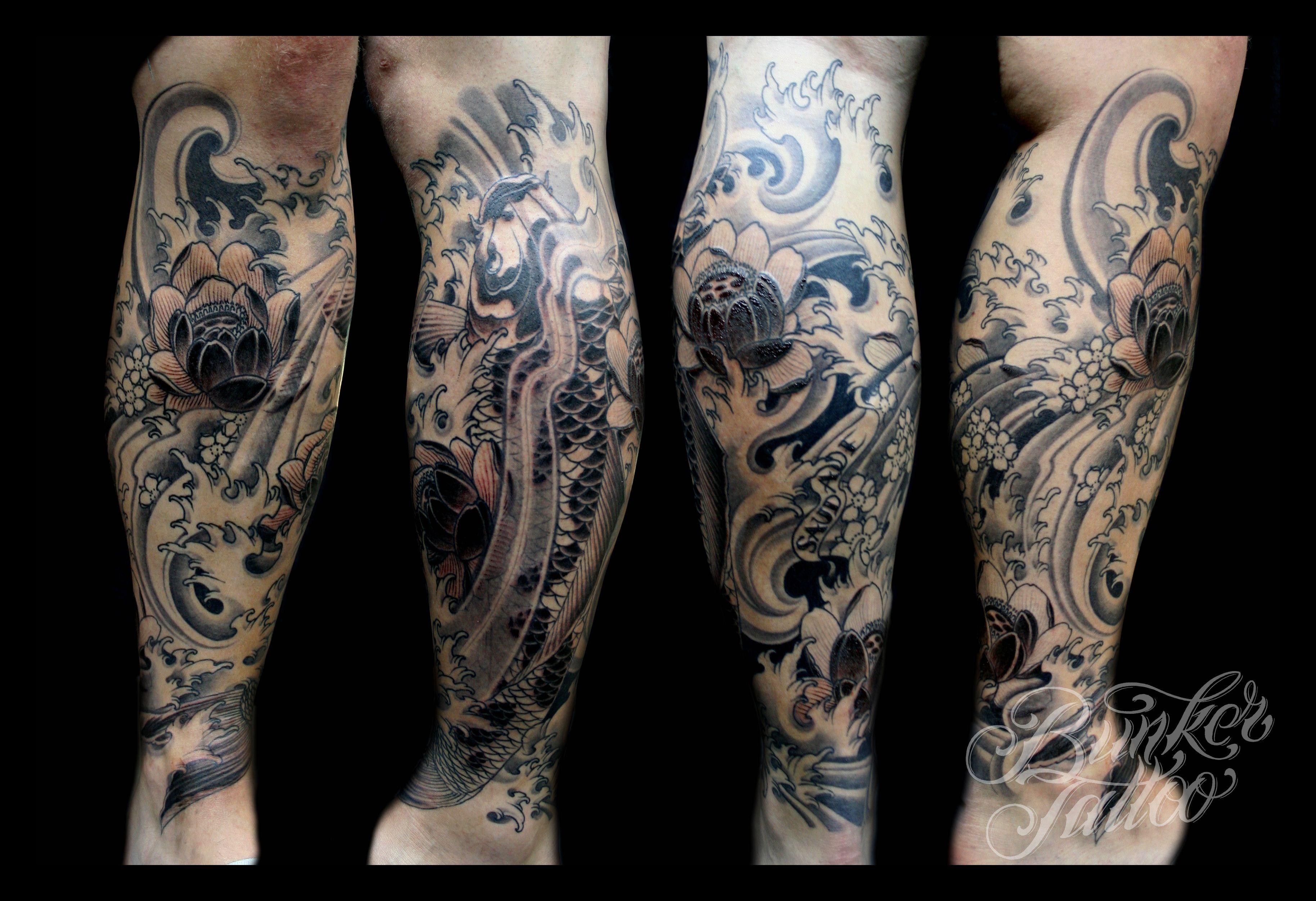 sick calf tattoo design ORIENTAL Pinterest Calf
