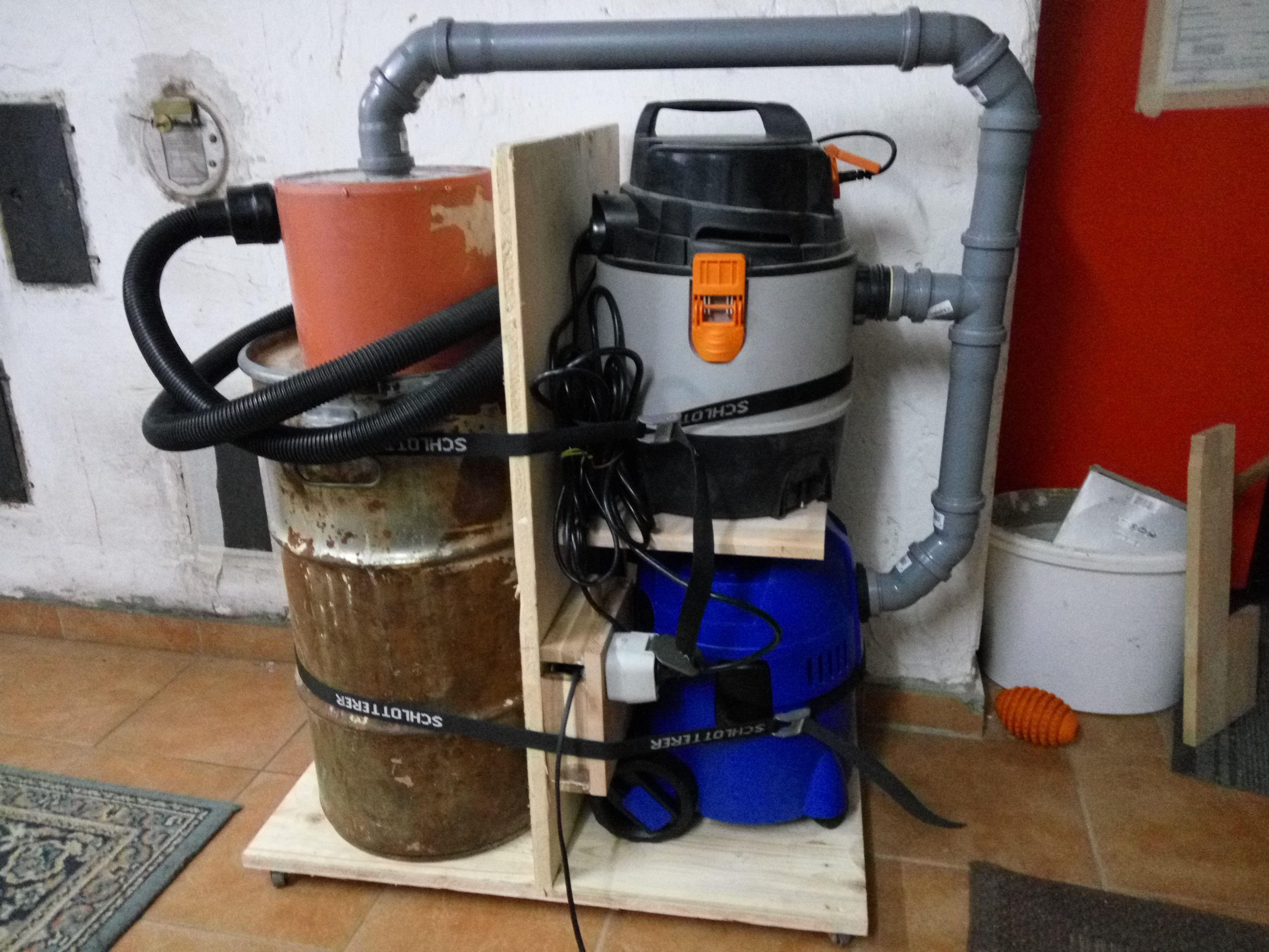 zyklon mit zwei sauger Bauanleitung zum selber bauen
