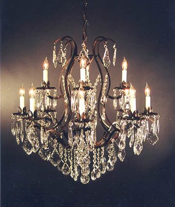 Wrought Iron Crystal Chandelier X