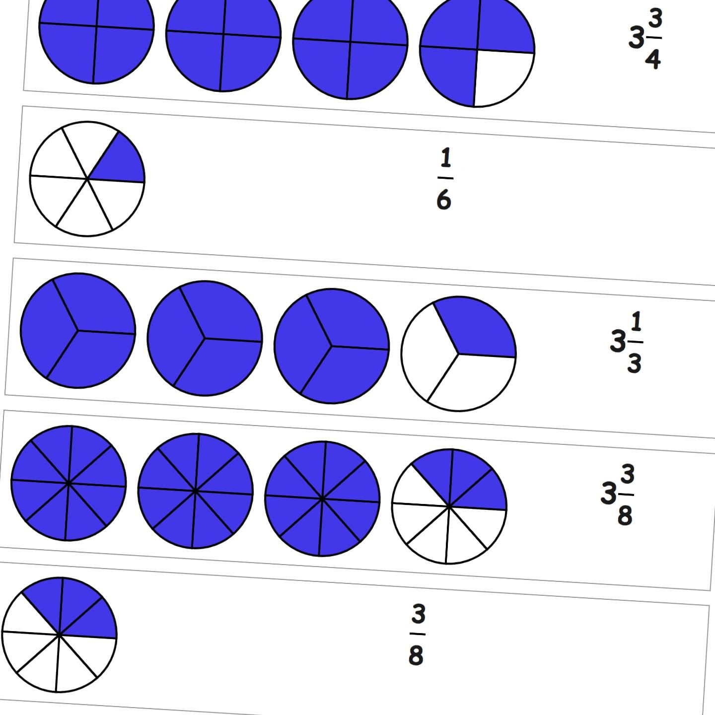 Graphic Fractions Fraction From Drawing These Worksheets