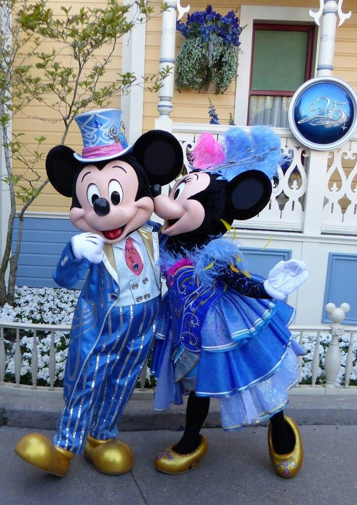 Mickey And Minnie Mouse Celebrating The 25th Anniversary