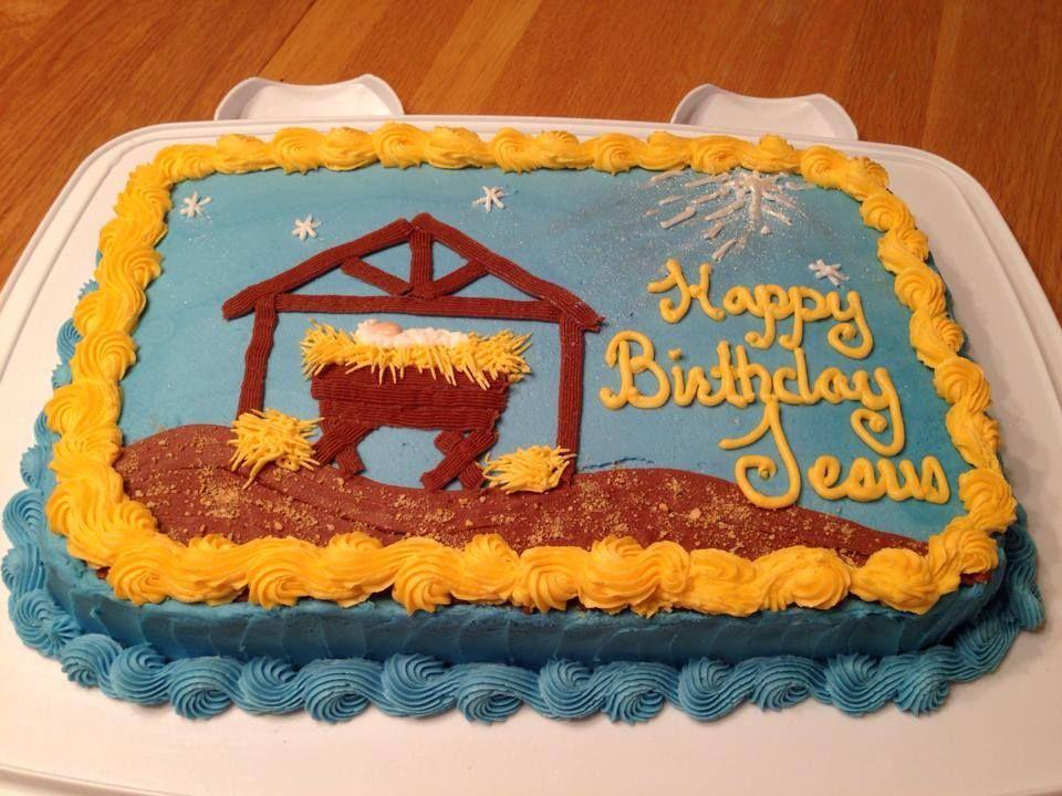 Baby Jesus Manger Cake; Happy Birthday Jesus Cake Robyn