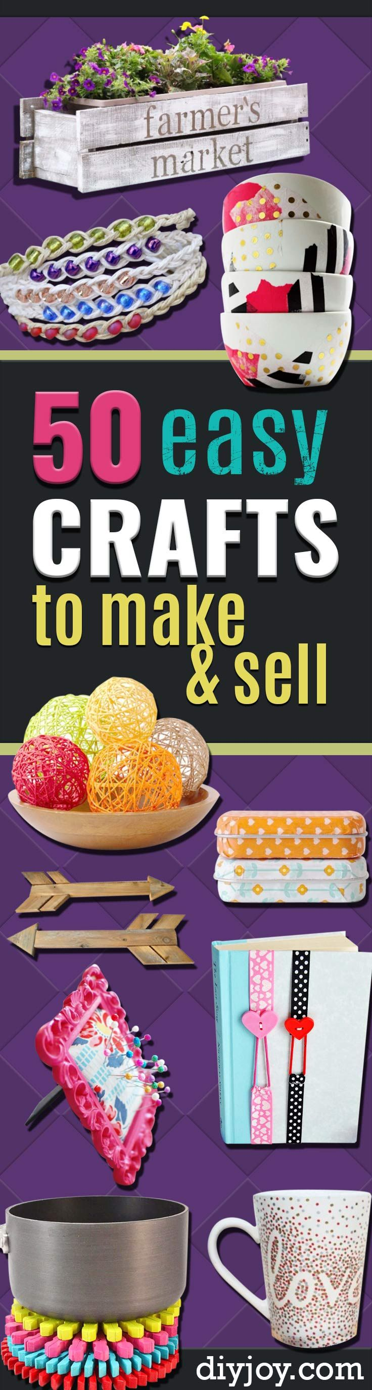 50 Easy Crafts to Make and Sell Homemade crafts, Craft