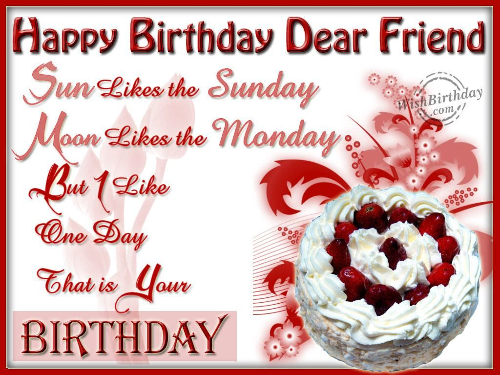 Happy Birthday Wishes for Friend Wishing You A Very