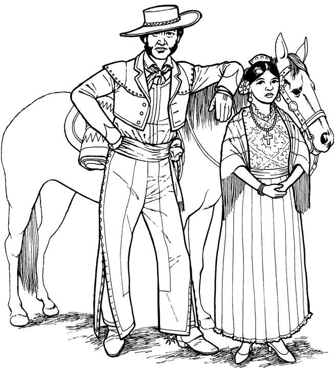 southwestern & native american coloring page  things to