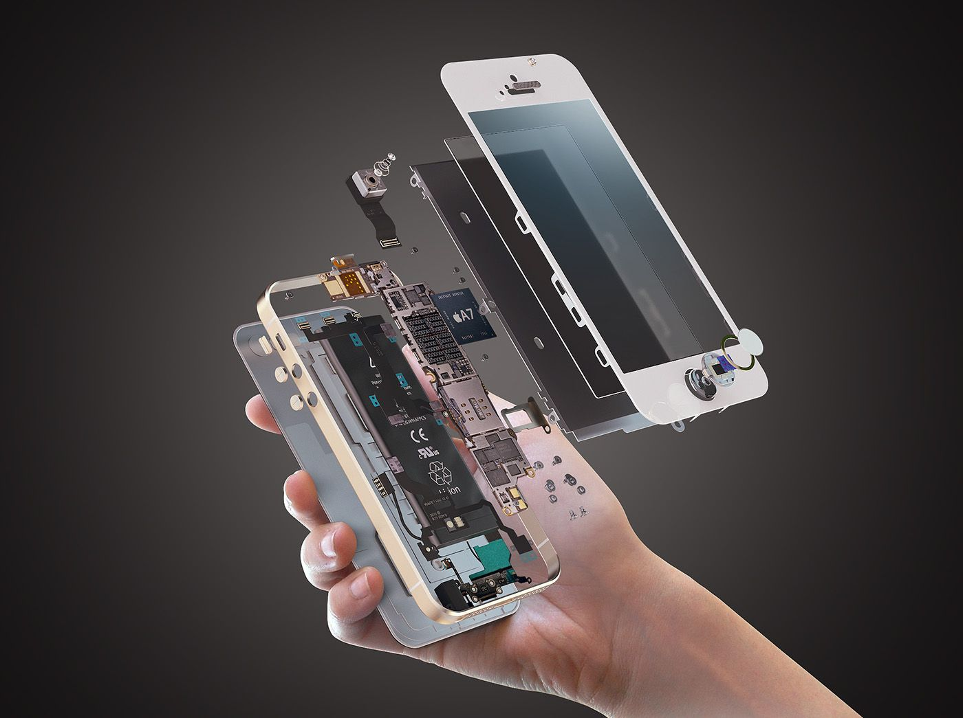 iPhone explosion on Behance Engineering Pinterest