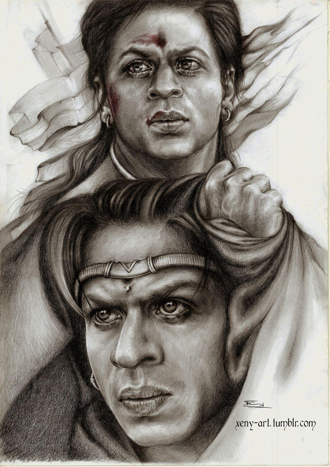 Asoka by Xeny SRK fan art Pinterest Shahrukh khan