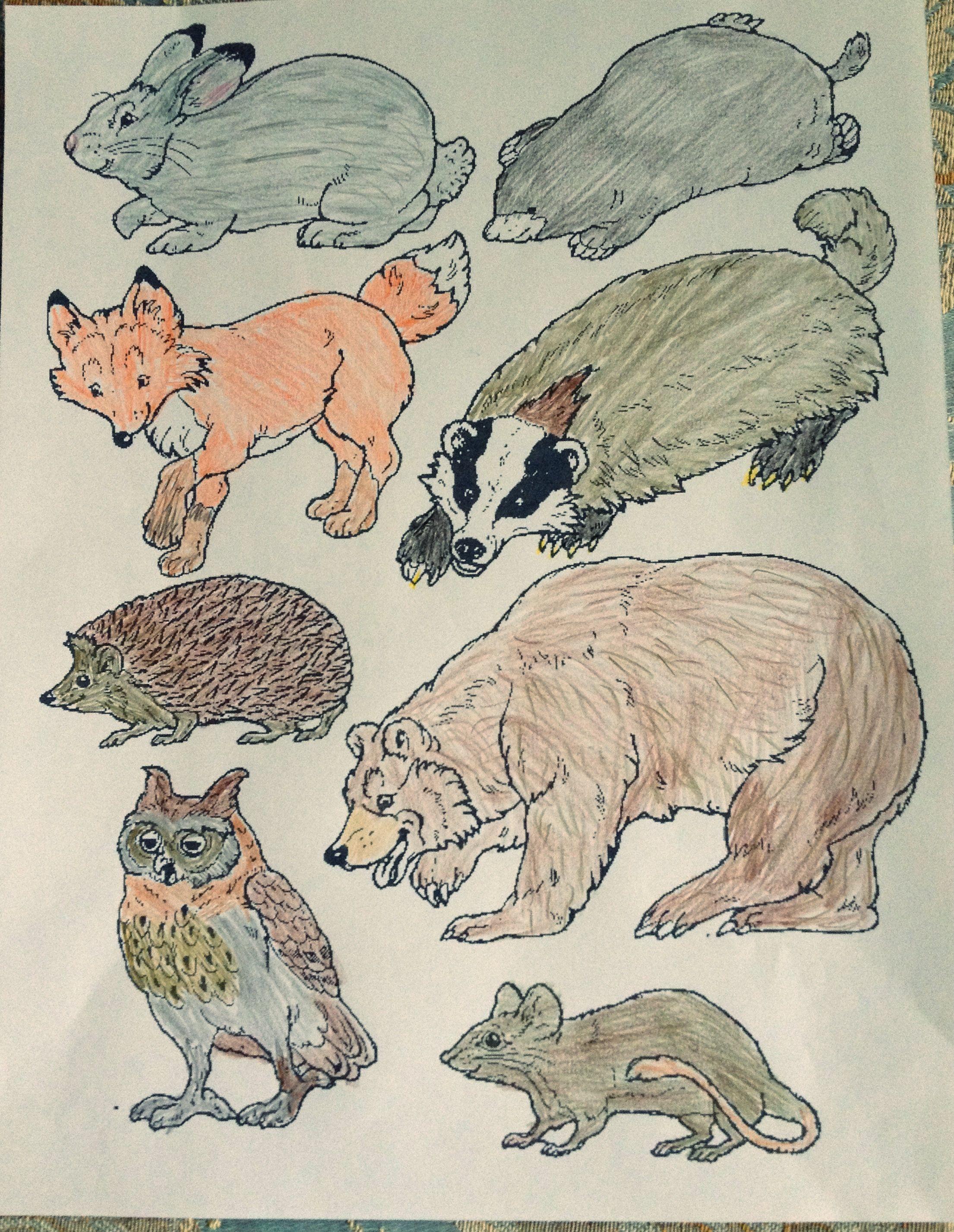 The Mitten Animalslink to print mitten and animals