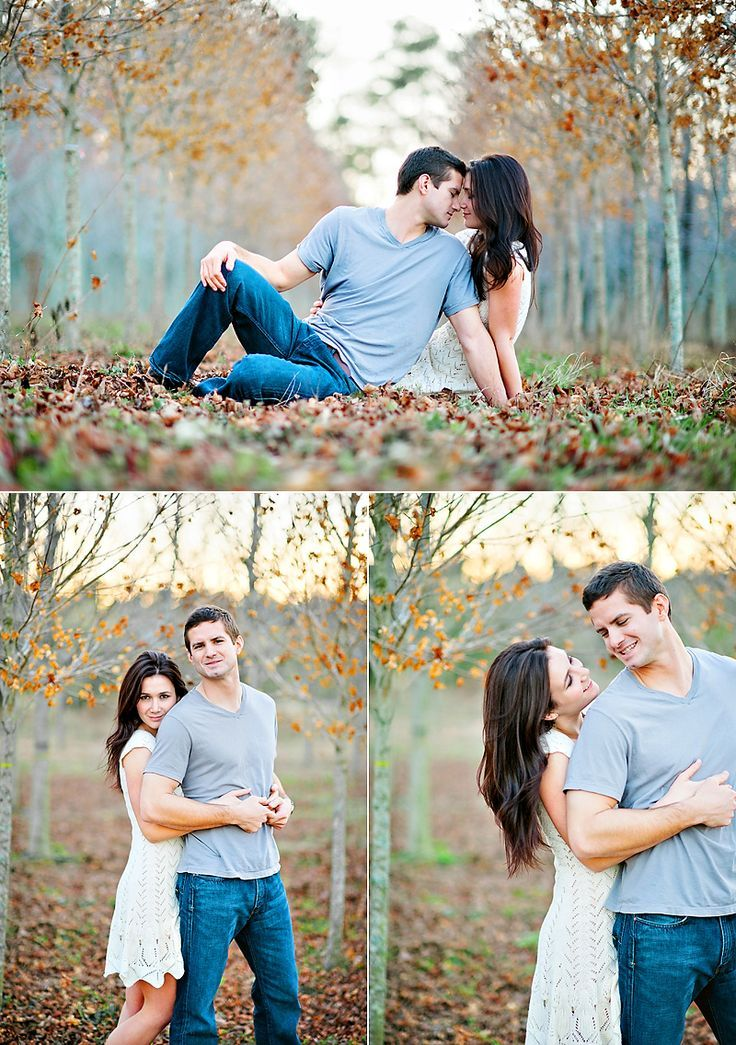 Simple... Jeans and Tshirt + White dress Engagement