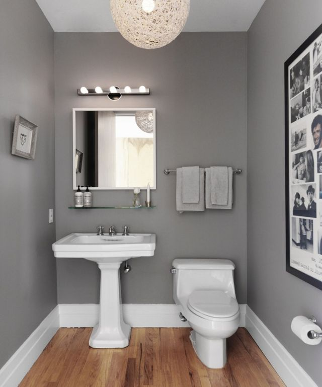 Narrow Grey Bathroom Ideas With White Bath Fixtures Grey
