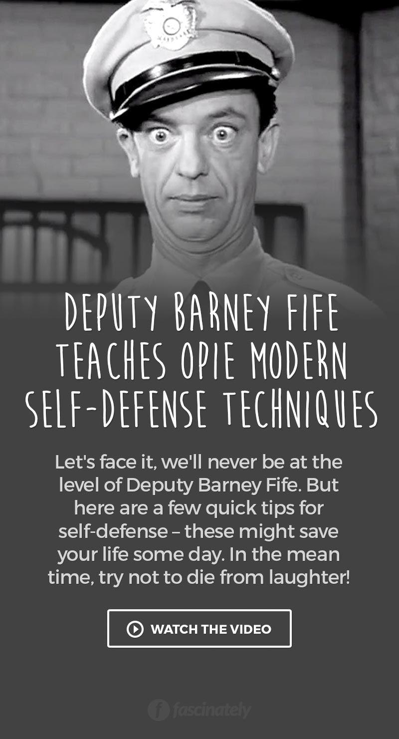 Deputy Barney Fife Teaches Opie Modern SelfDefense