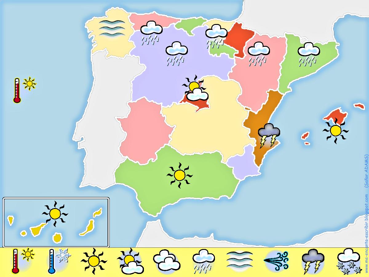 Me Encanta Escribir En Espanol Crear Un Mapa Del Tiempo