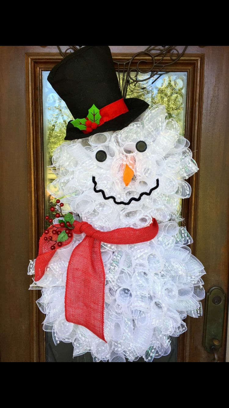 Snowman wreath Trendy Tree