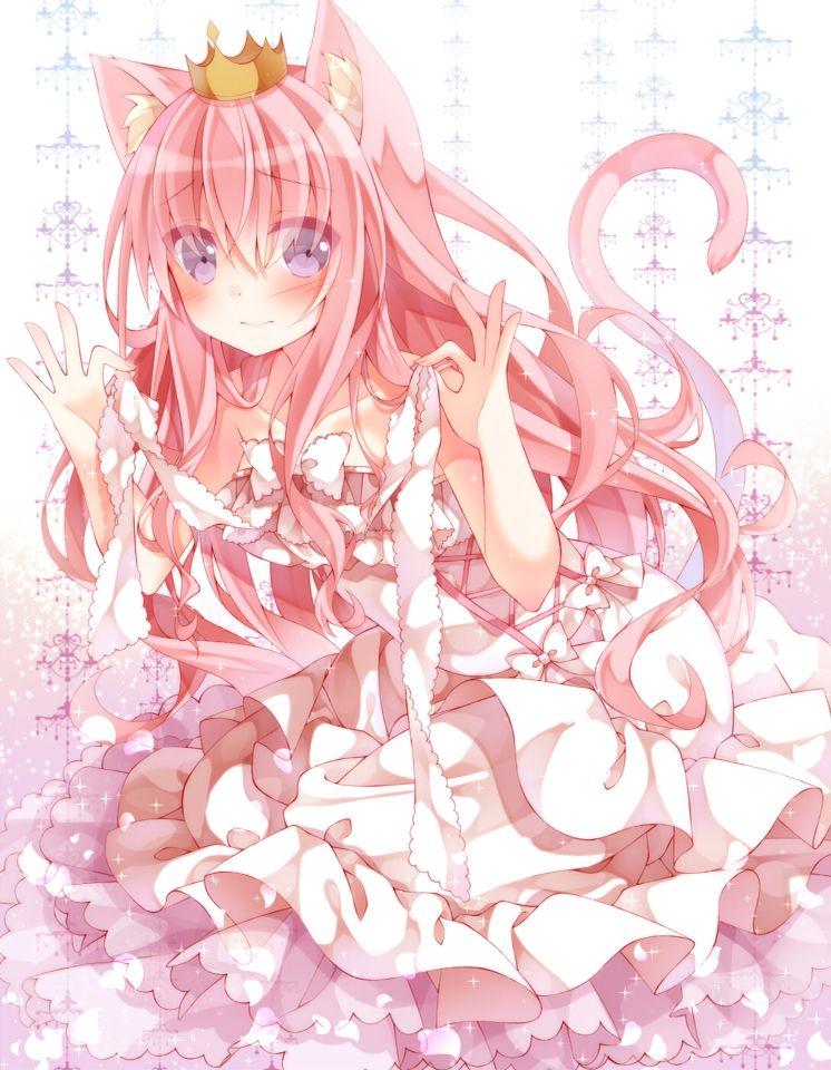 Pink anime girl Anime Pinterest Anime and Anime neko