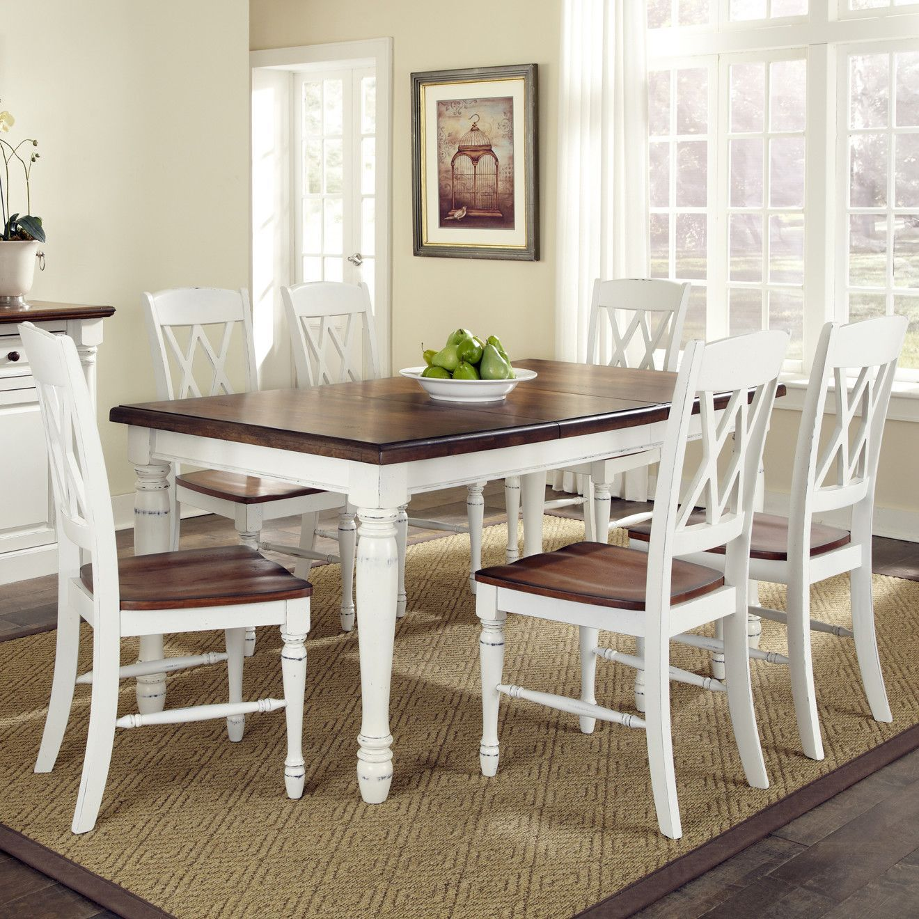 Found it at Wayfair Monarch 7 Piece Dining Set in White