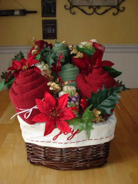 Great Gift Idea For Christmas Basket Filled With Bath