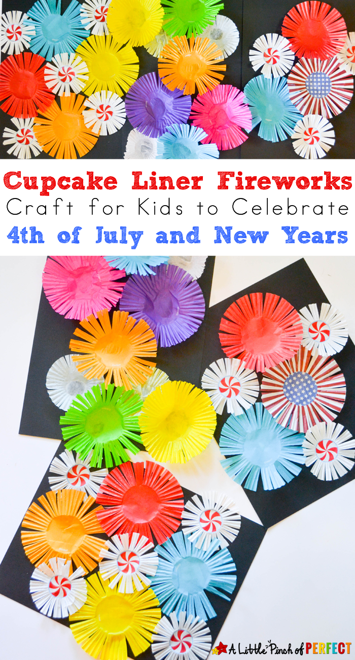 Cupcake Liner Fireworks Craft for Kids Make colorful