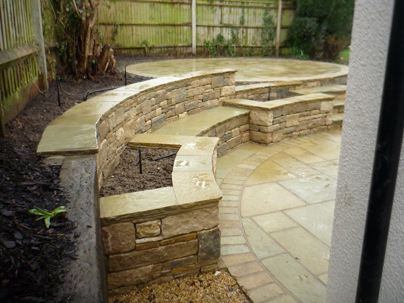 Retaining Bench And Higher Circular Patio
