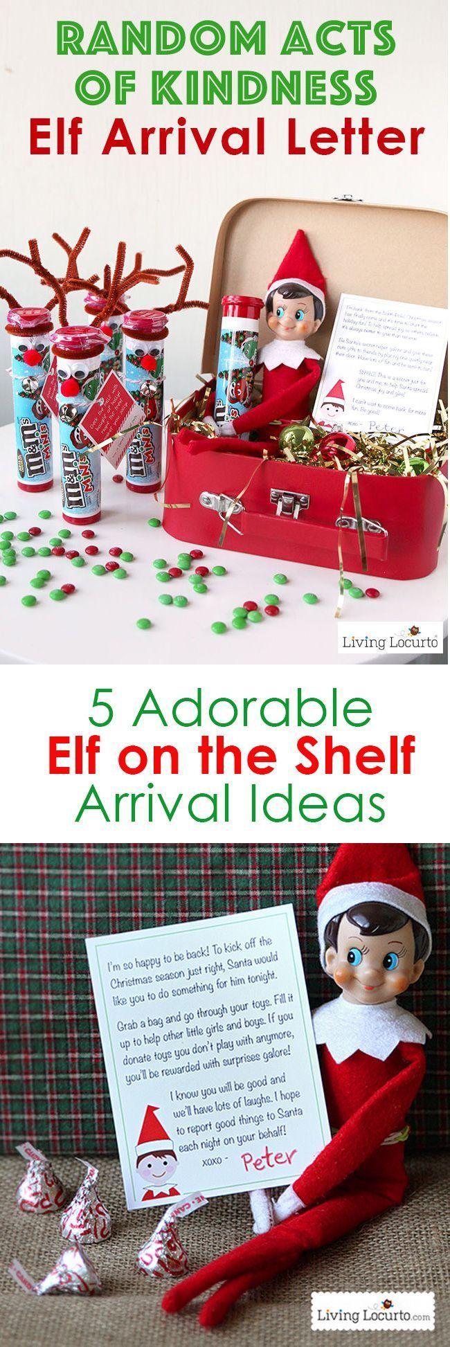 Creative Elf on the Shelf Arrival Ideas! Unique printables