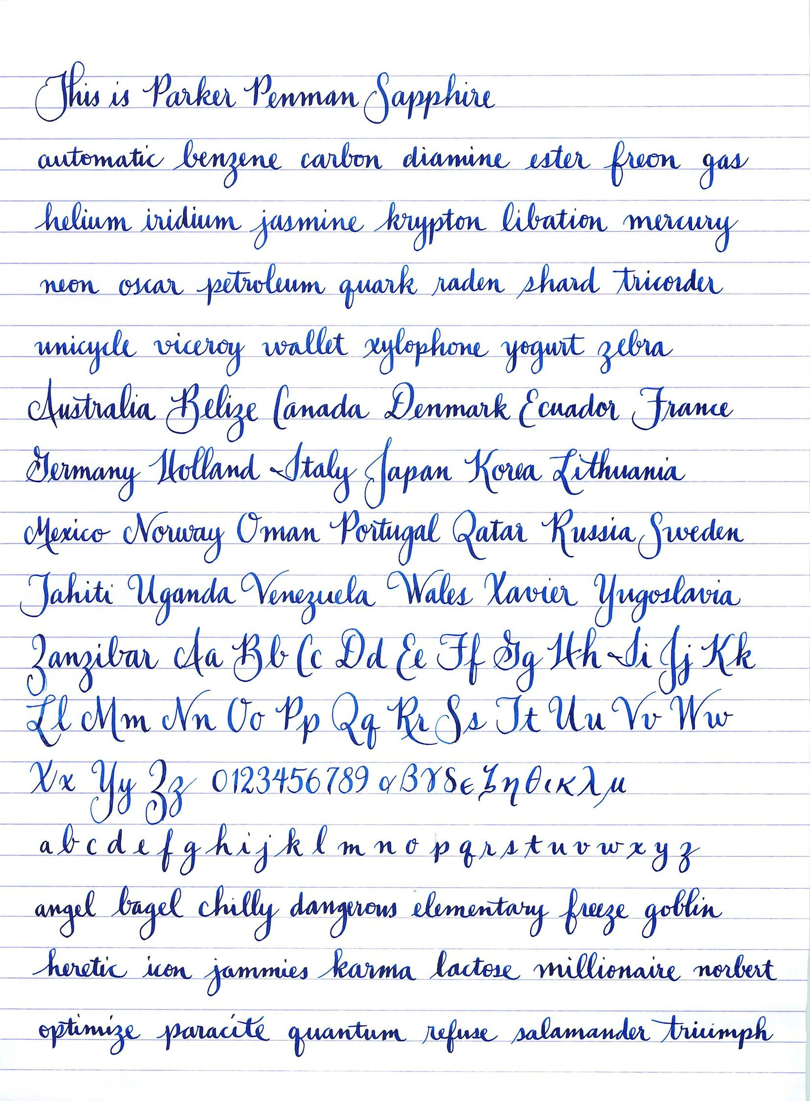 Lovely Penmanship Sample From Fpn Member Jgrasty