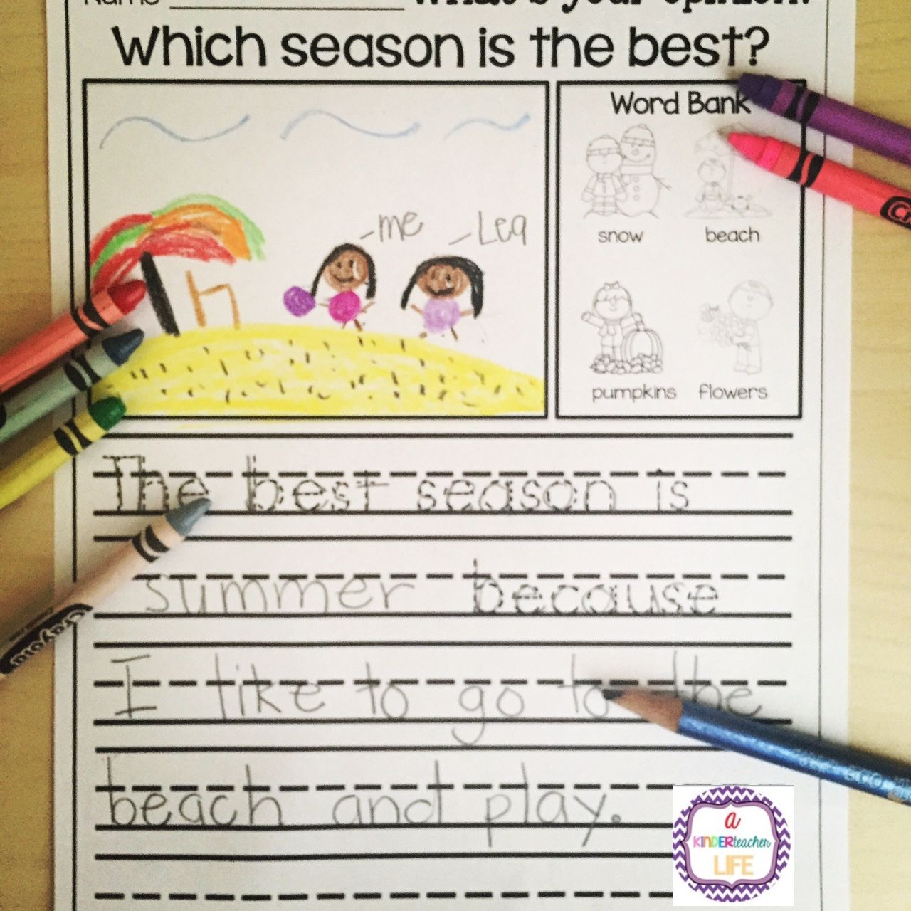 Opinion Writing For Kindergarten